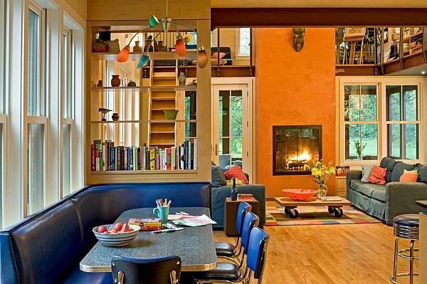Яркая разноцветная мебель в интерьере