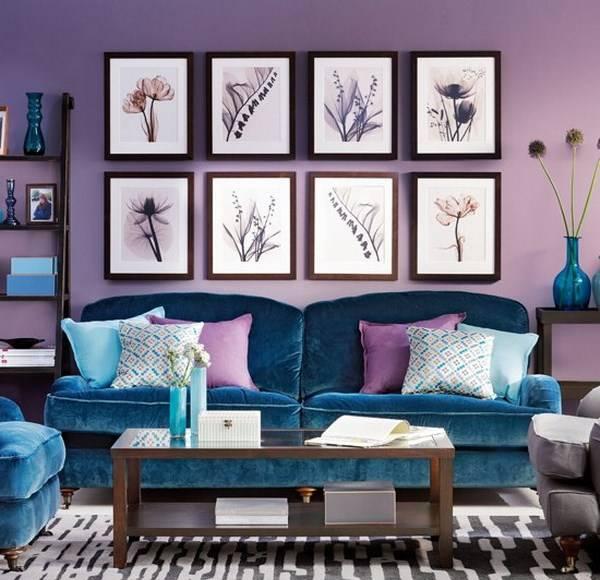 Дизайн интерьера в роскошных цветах