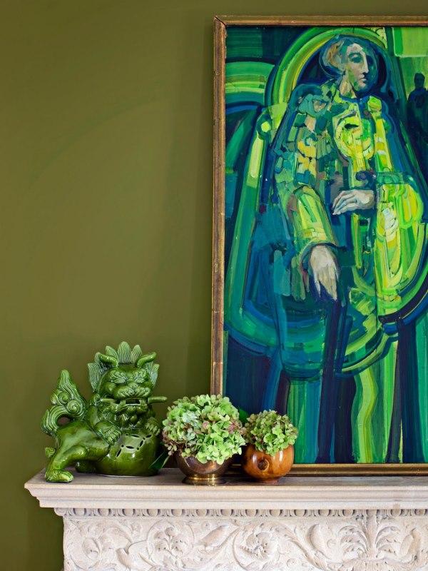 Стильная цветовая схема с зеленым и синим цветом