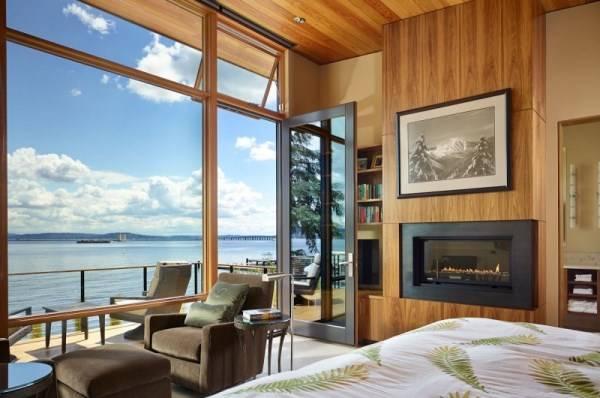 Спальня с красивым видом