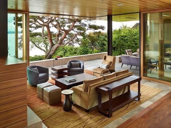 Дизайн гостиной в стильном доме