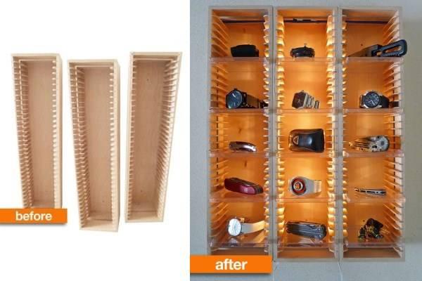 Полки для аксессуаров с LED подсветкой