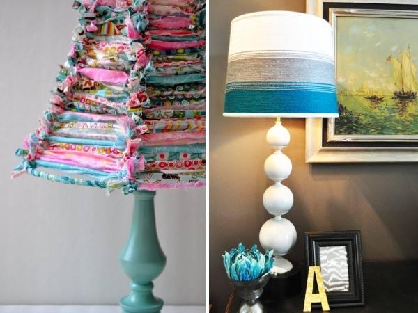 Идеи для настольных ламп своими руками