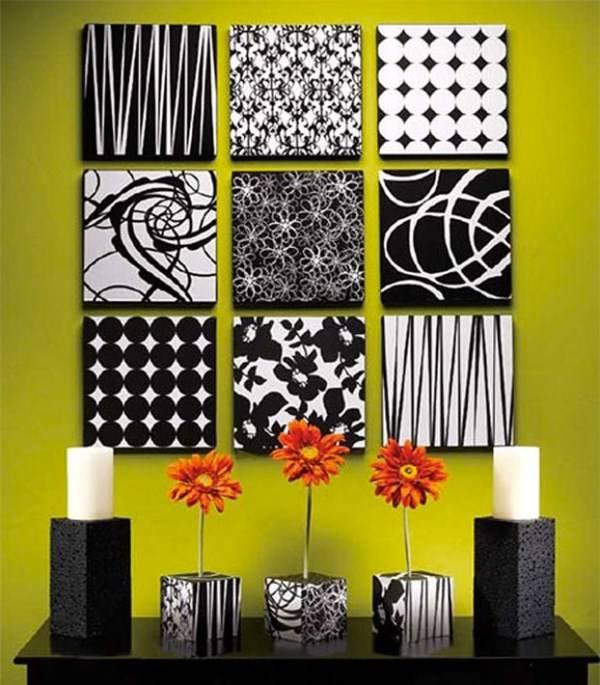 Декор черного и белого цветов