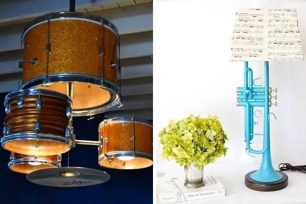 Светильники из необычных материалов
