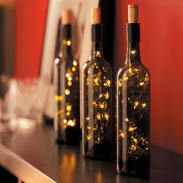 Светодиодная лента в бутылке