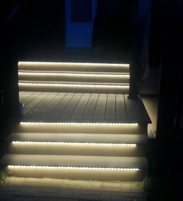 Освещение ступеней