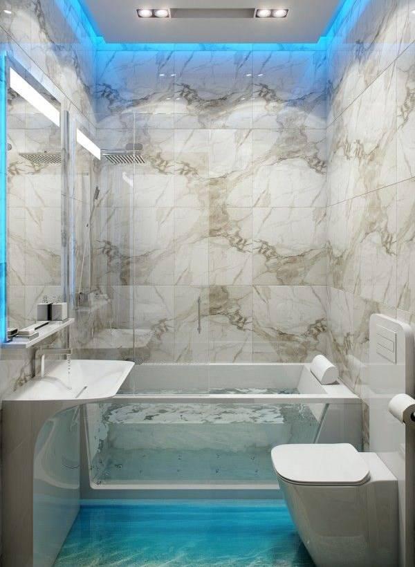Светодиодная подсветка в ванной комнате