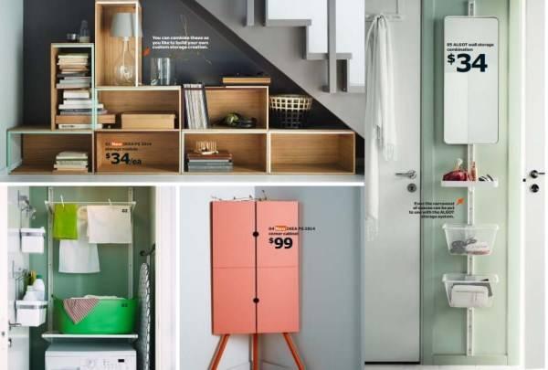 Удобные полки и шкафчики для хранения вещей IKEA 2015