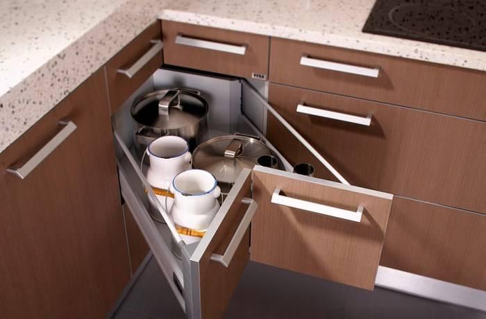 Угловые кухонные ящики