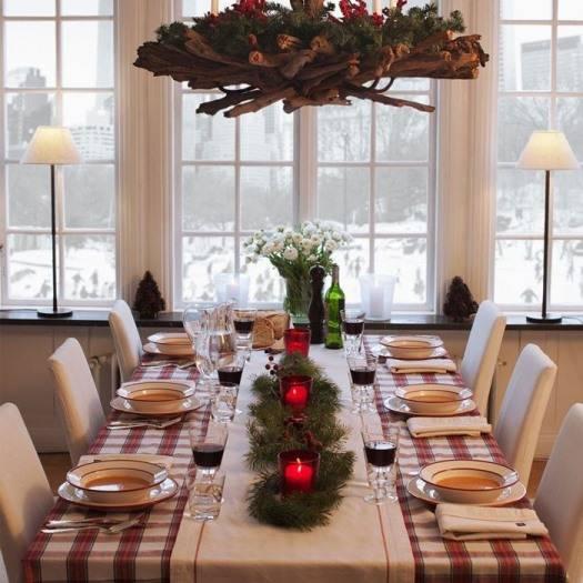 Праздничное оформление обеденного стола