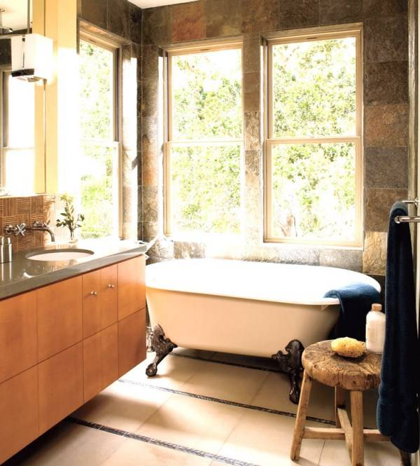 Ванная комната в натуральных оттенках