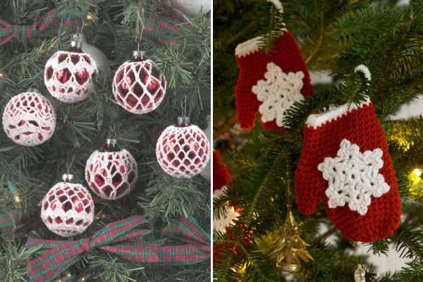 Вязаный декор для новогодней елки