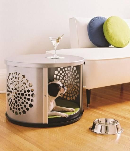 Журнальный столик в местом для собаки