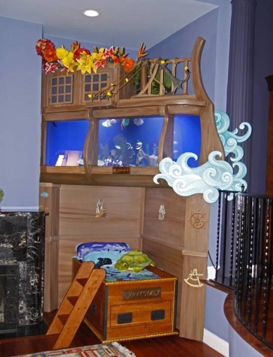 Как вписать аквариум в детскую