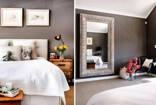 Декорирование спальни в нейтральных тонах