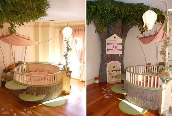 Домик лесной феи в детской комнате