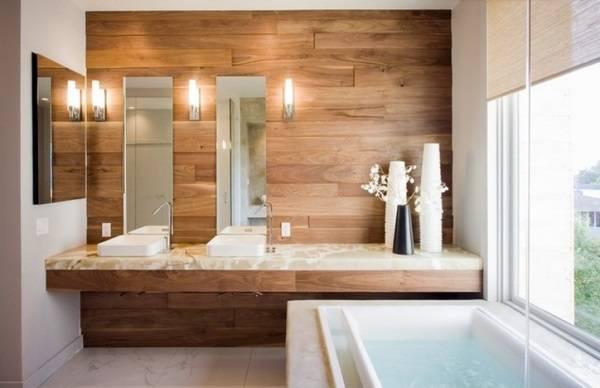 Дизайн ванной с природными элементами