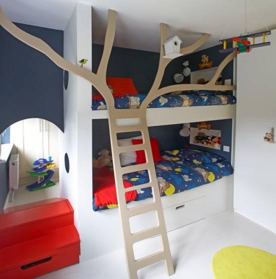 Стильная планировка детской комнаты мальчиков