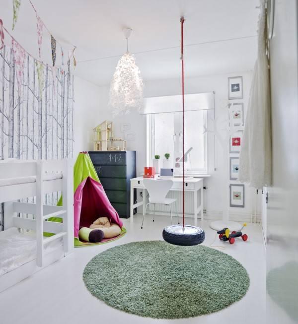 Декор в большой детской комнате