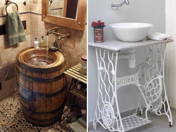 Старые вещи в дизайне ванной комнаты