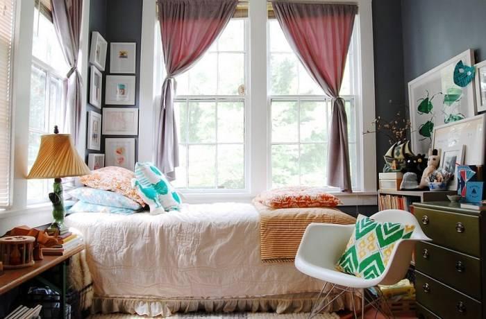 Эклектичный дизайн маленькой спальни