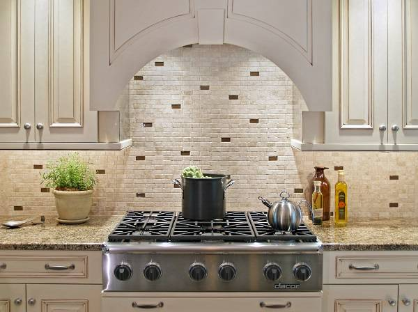 Extravagant Modern Kitchen Tile Backsplash Ideas Brick Wall White Color Design
