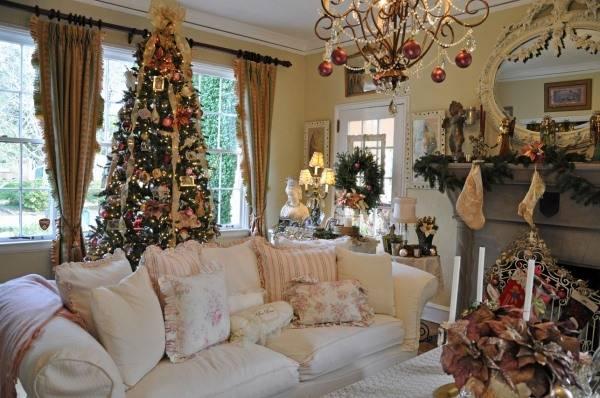 Гламурные новогодние украшения