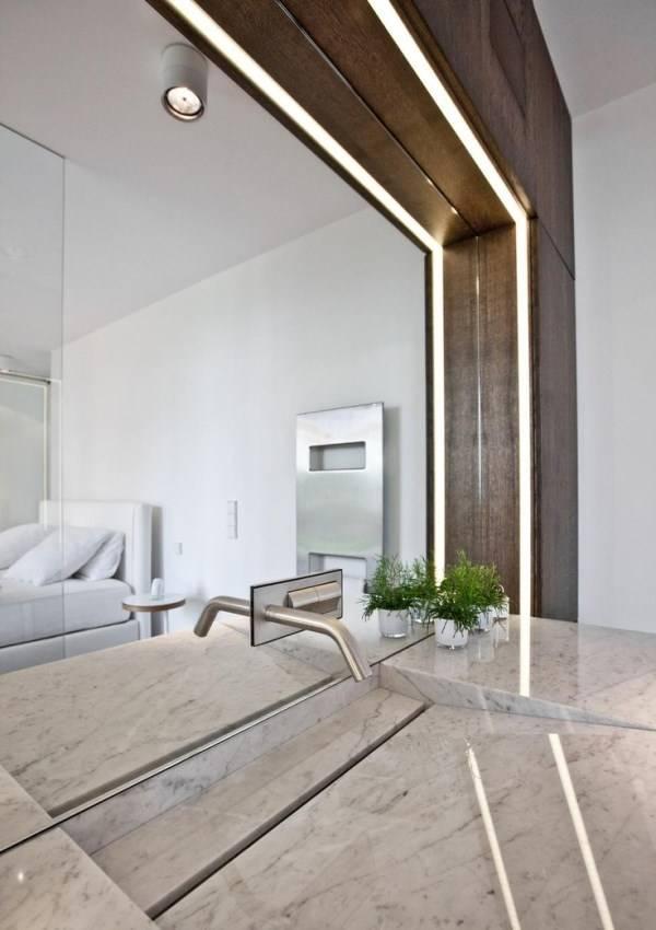 Стильный дизайн интерьера со встроенными лампами
