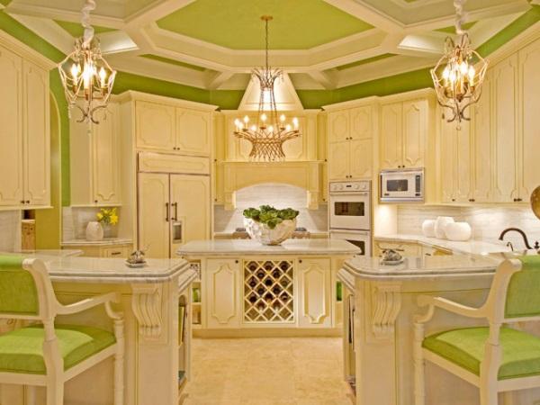 Яркий дизайн классической кухни