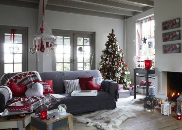 Стильная цветовая схема для новогоднего интерьера