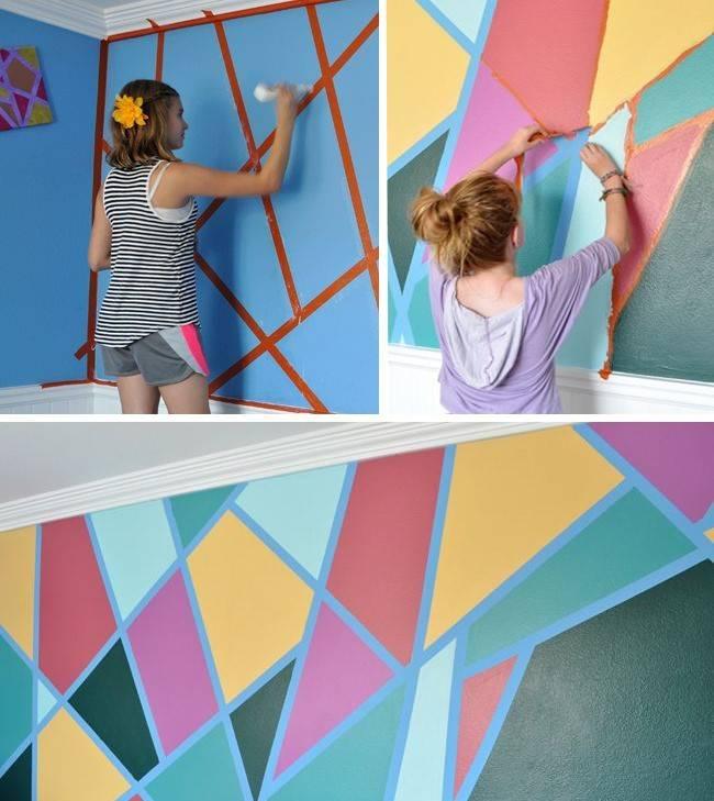 Разноцветные стены в детской
