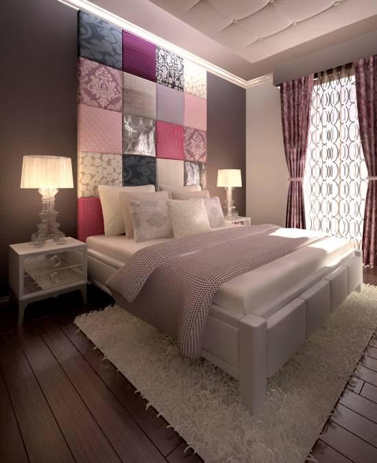 Оригинальный декор в модной спальне
