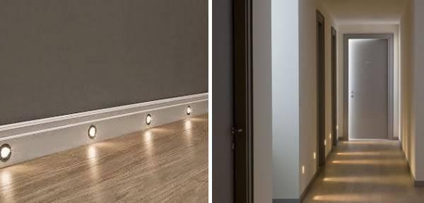 Встроенные светильники для подсветки пола