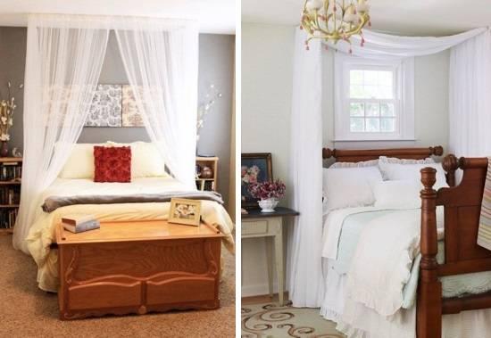 Кровати с прозрачными балдахинами