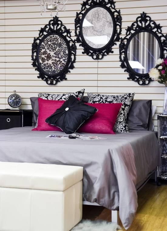Красивый настенный декор в спальне