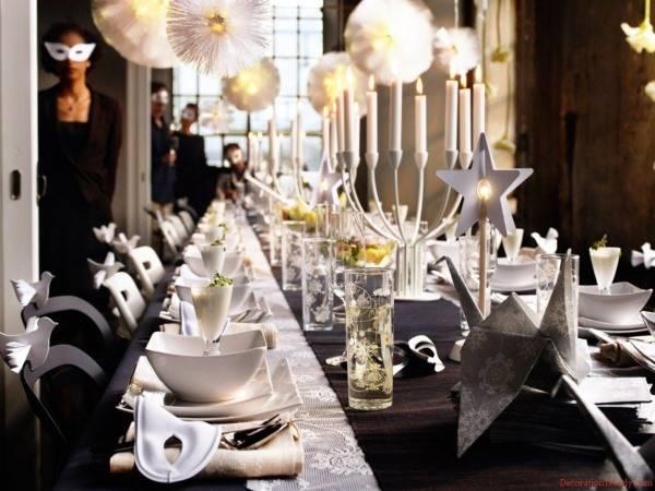 Самое красивое оформление стола на Новый Год