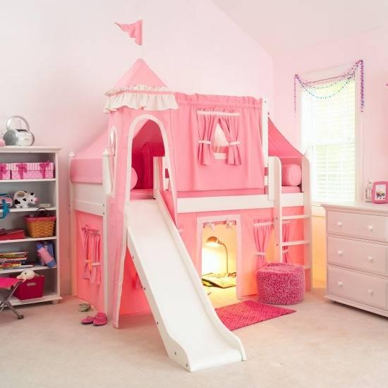 Двухэтажный дворец с ткаными стенками для детской комнаты