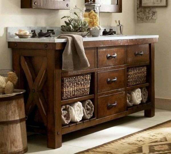 """Мебель для ванной """"под старину"""""""