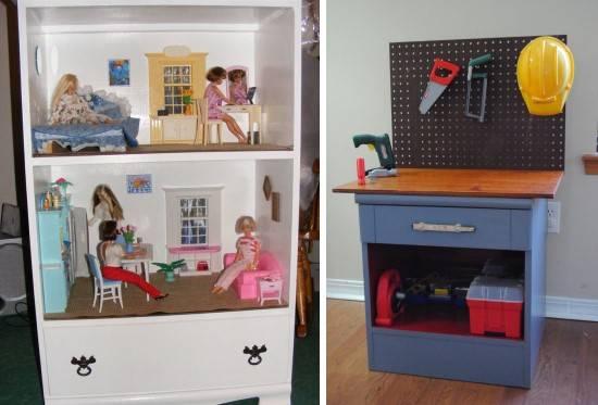 Переделка старого комода под детскую мебель