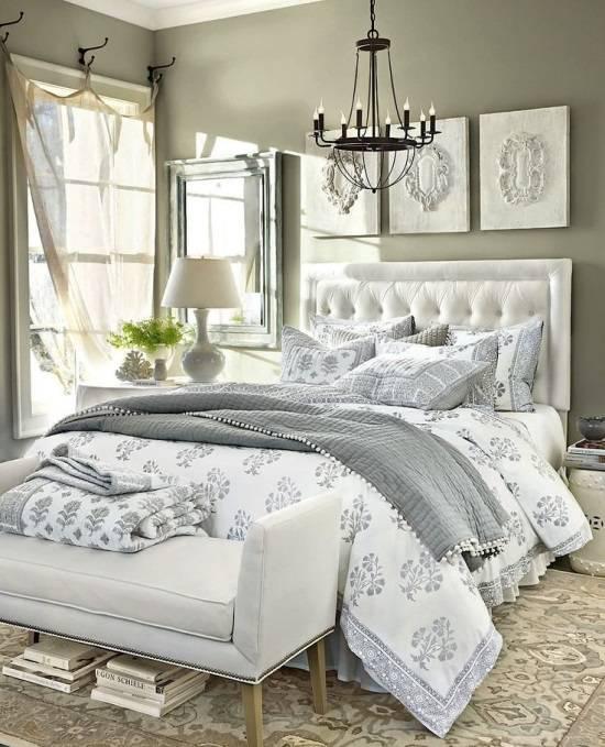 Роскошная спальня в нейтральных тонах