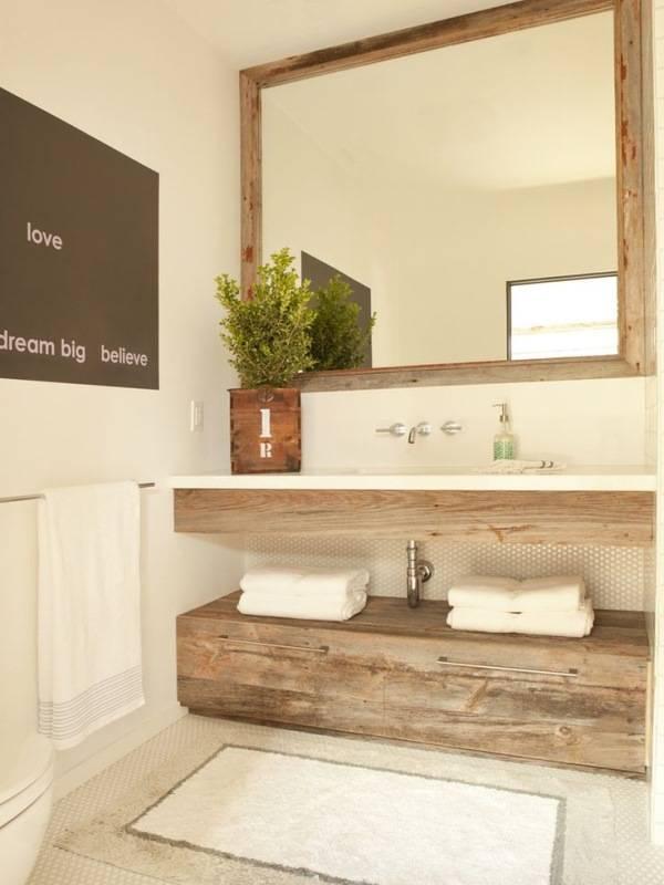 Стильная минималистская мебель для ванной
