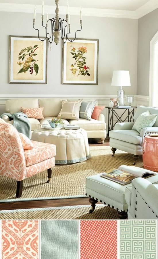 Приятные цвета для дизайна гостиной