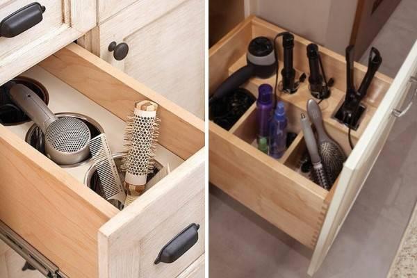 Удобное хранение вещей в ванной