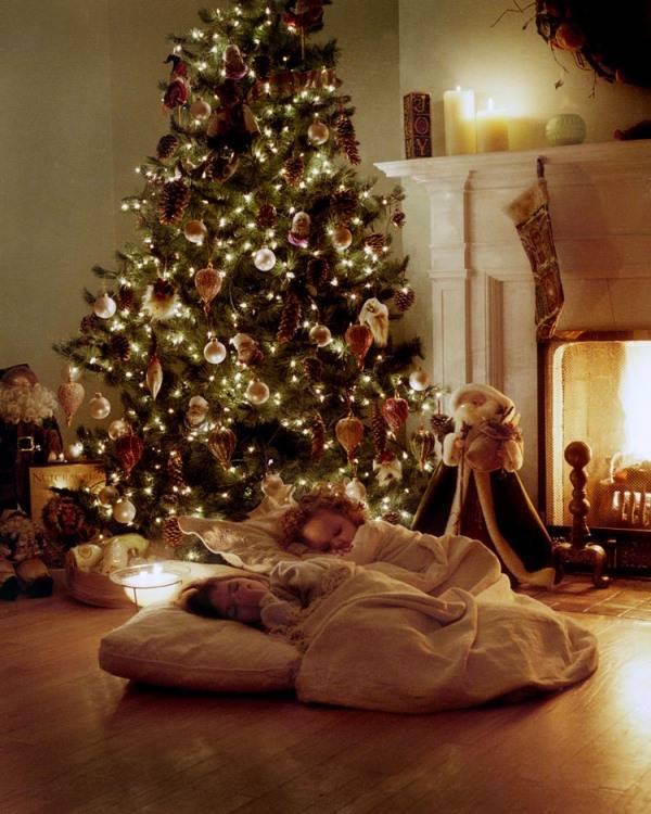Уютный рождественский интерьер