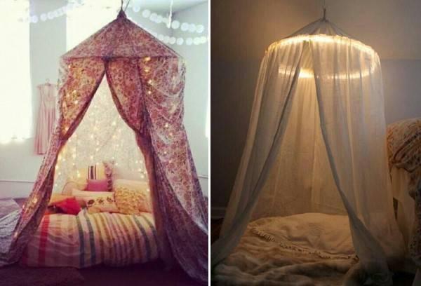 Уютные шатры для детской комнаты