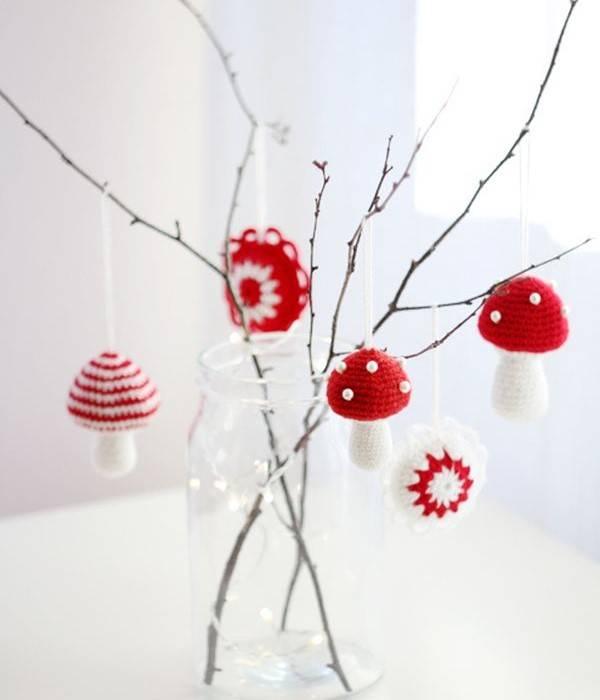Декор для дома в белом и красном цвете