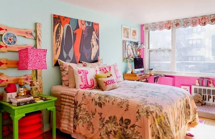 Эклектичный стиль оформления спальни