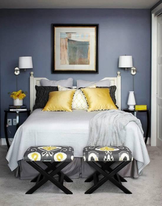 Маленькая спальня со стильным декором