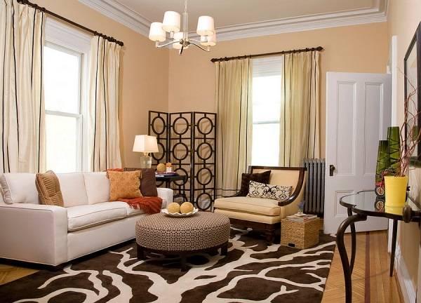 Oturma odası köşe dekorasyonu için Asya tarzı dekor